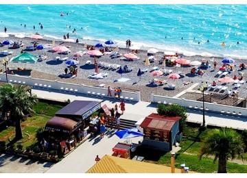 Собственный пляж| Гранд Отель «Абхазия »| Республика Абхазия, Гагра